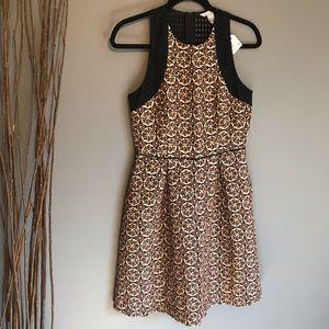 H&M Brocade Eyelet Dress